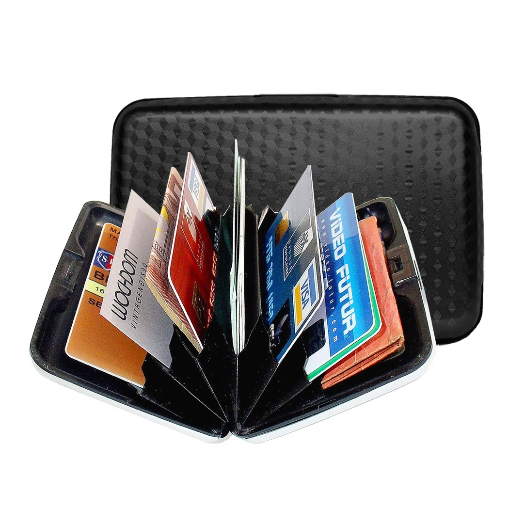 OGON Aluminum Wallet - Black - EBONY