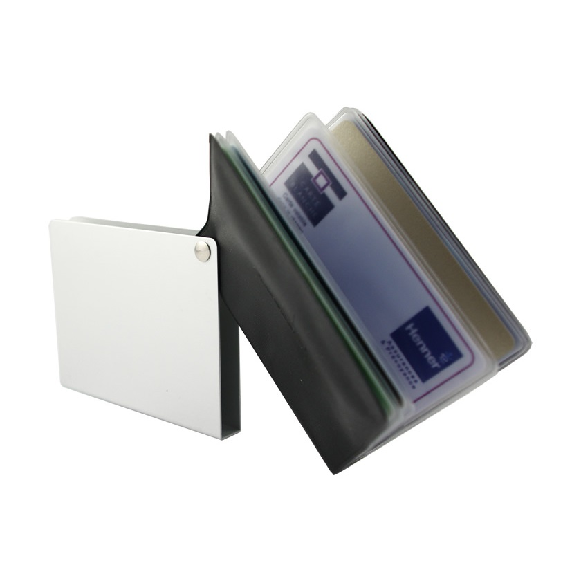OGON Aluminum Wallet Flip Over  - Silver