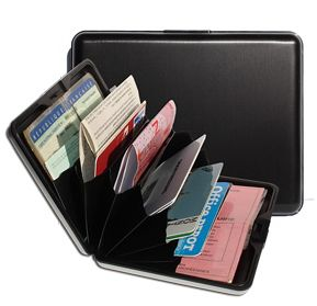 OGON Aluminum Wallet Big - Black