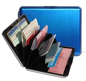 OGON Aluminum Wallet Big - Blue