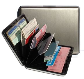 Aluminum Wallet Big - Dark Grey