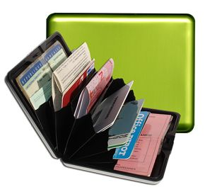 Aluminum Wallet Big - Green Lime