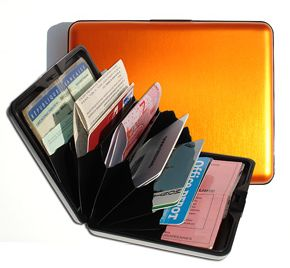 Aluminum Wallet Big - Orange