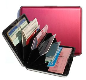 Aluminum Wallet Big - Red