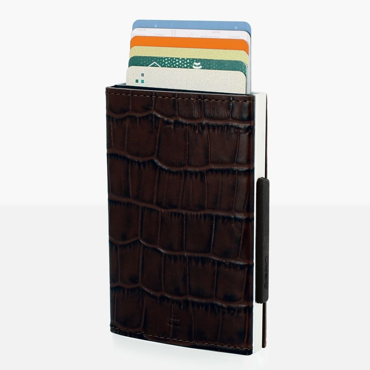 Cascade Card Case Wallet - Croco