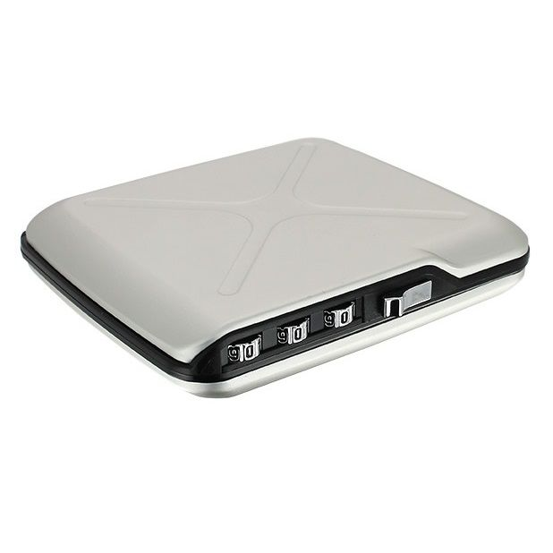 OGON Mini Safe Code Wallet - Silver