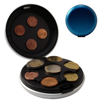 Aluminum Coin Dispenser - Blue