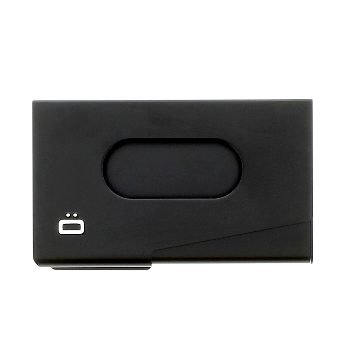 OGON Aluminum Business card holder One Touch - Black