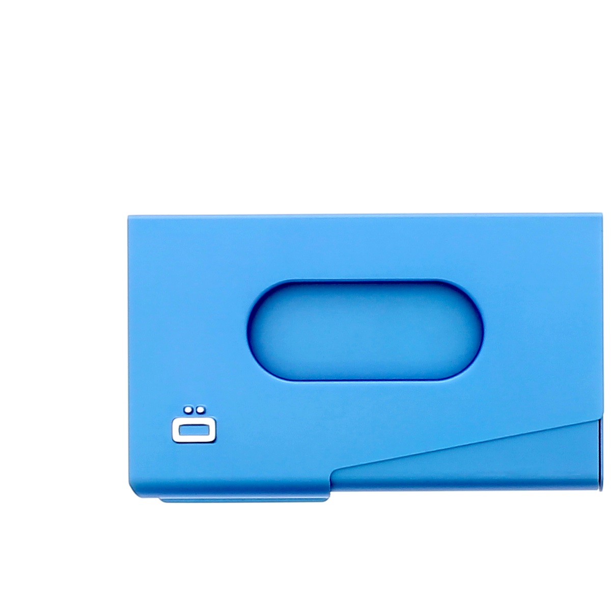 OGON Aluminum Business card holder One Touch - Blue