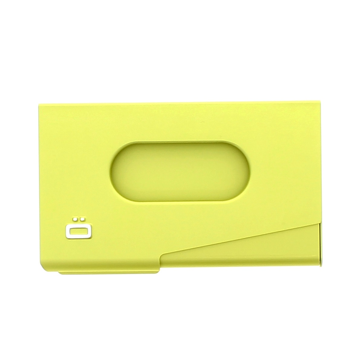 OGON Aluminum Business card holder One Touch - Green Lime