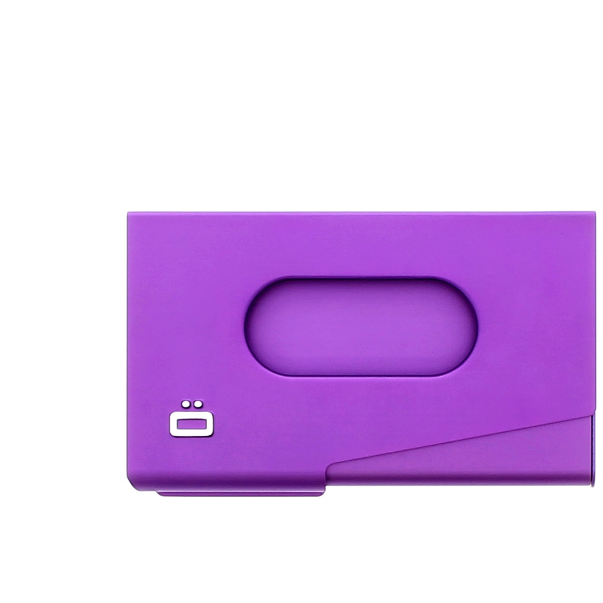 OGON Aluminum Business card holder One Touch - Purple | Wallets Online