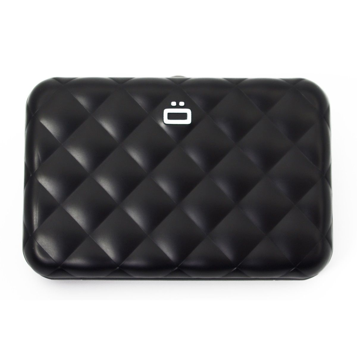 OGON Aluminum Wallet Quilted Button - Black