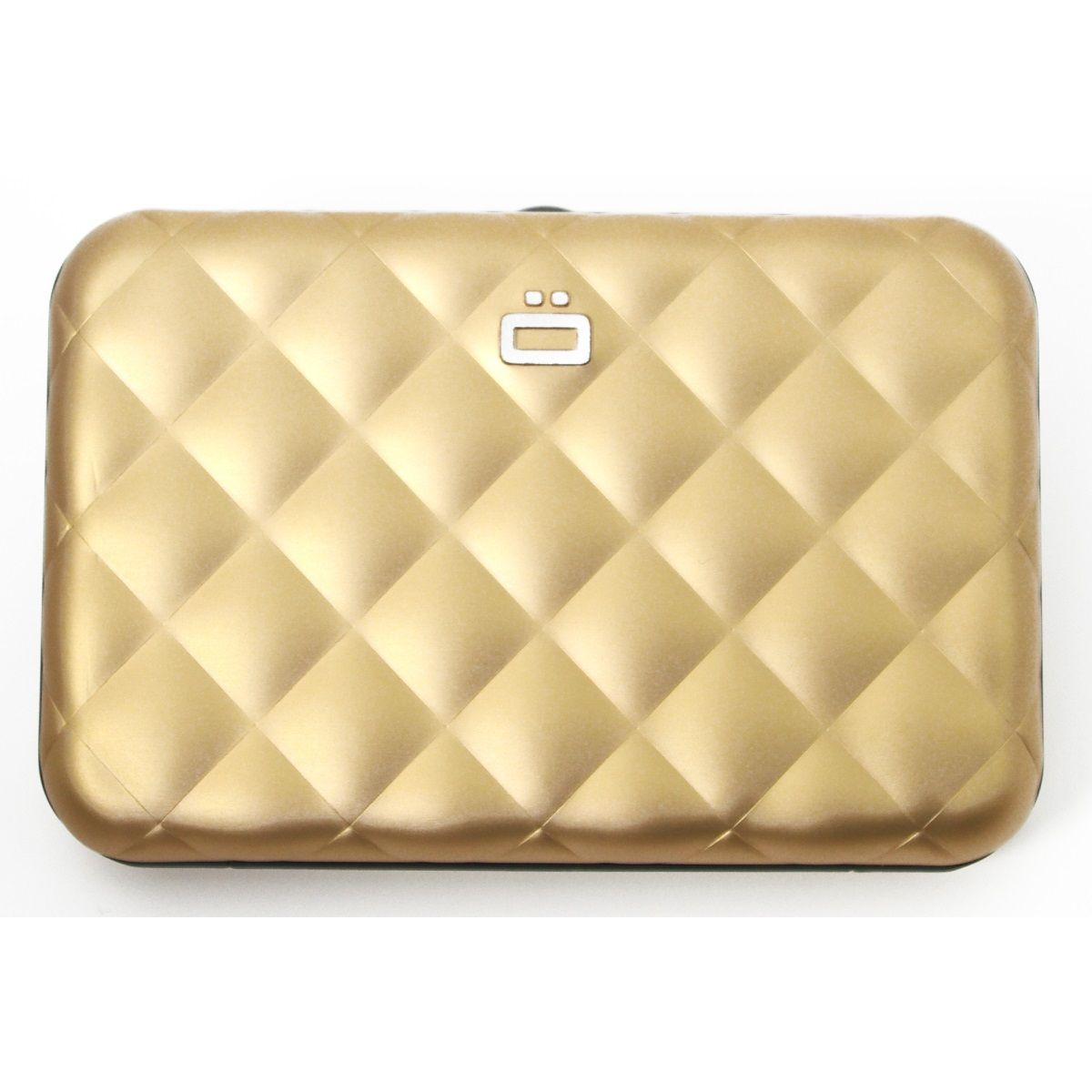 OGON Aluminum Wallet Quilted Button - Gold