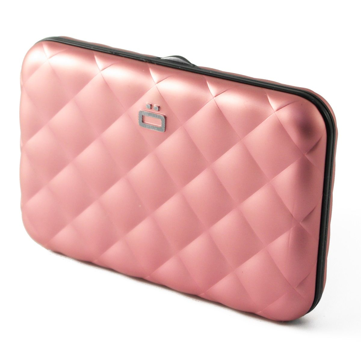 OGON Aluminum Wallet Quilted Button - Pink