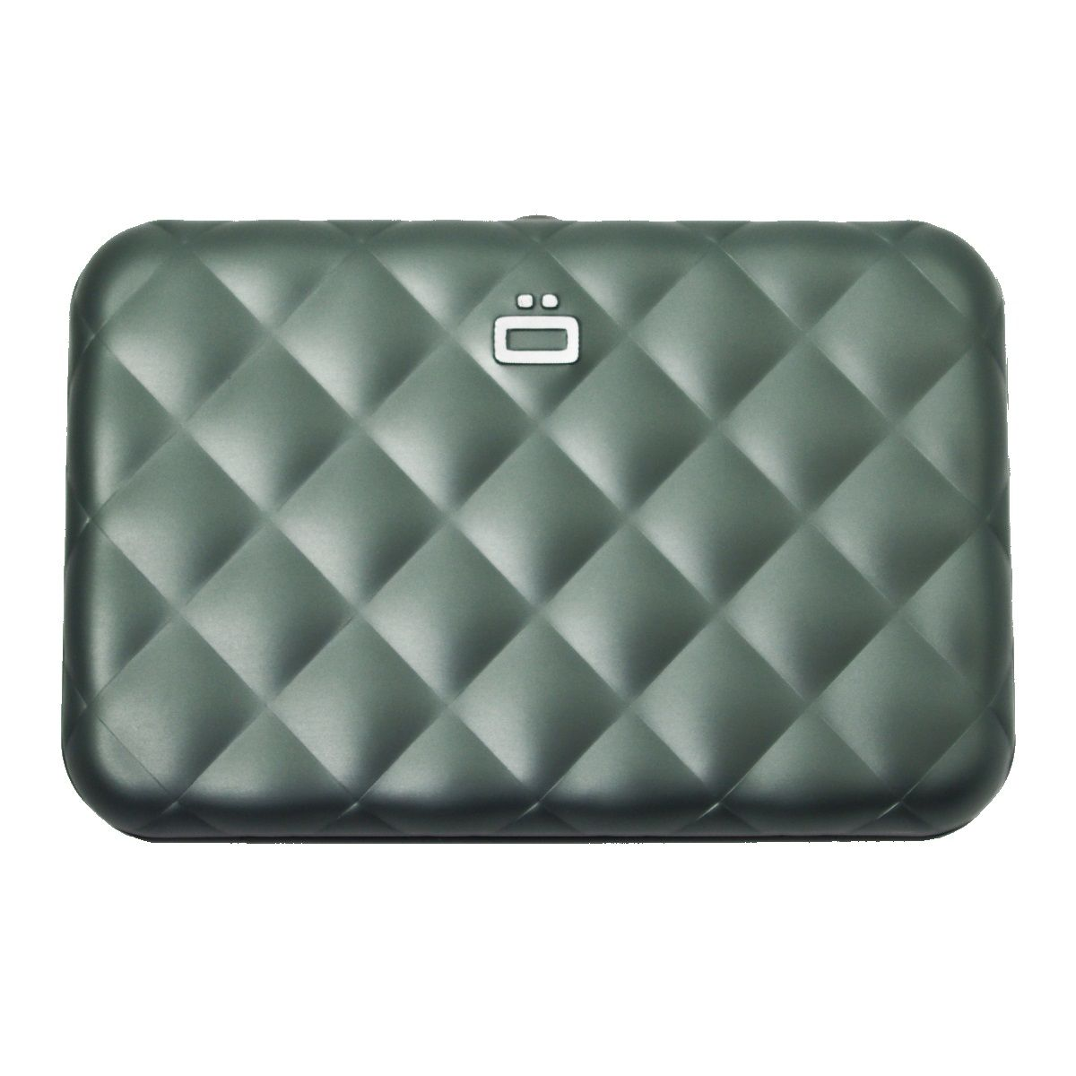 Aluminum Wallet Quilted Button - Platinium