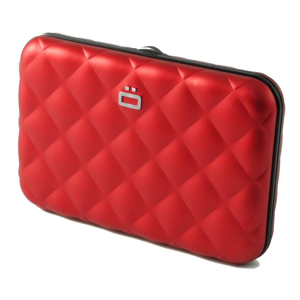 OGON Aluminum Wallet Quilted Button - Red