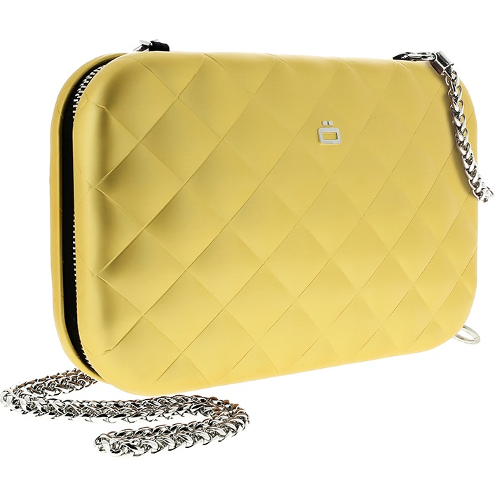 Aluminum Clutch Quilted Lady Bag - Gold
