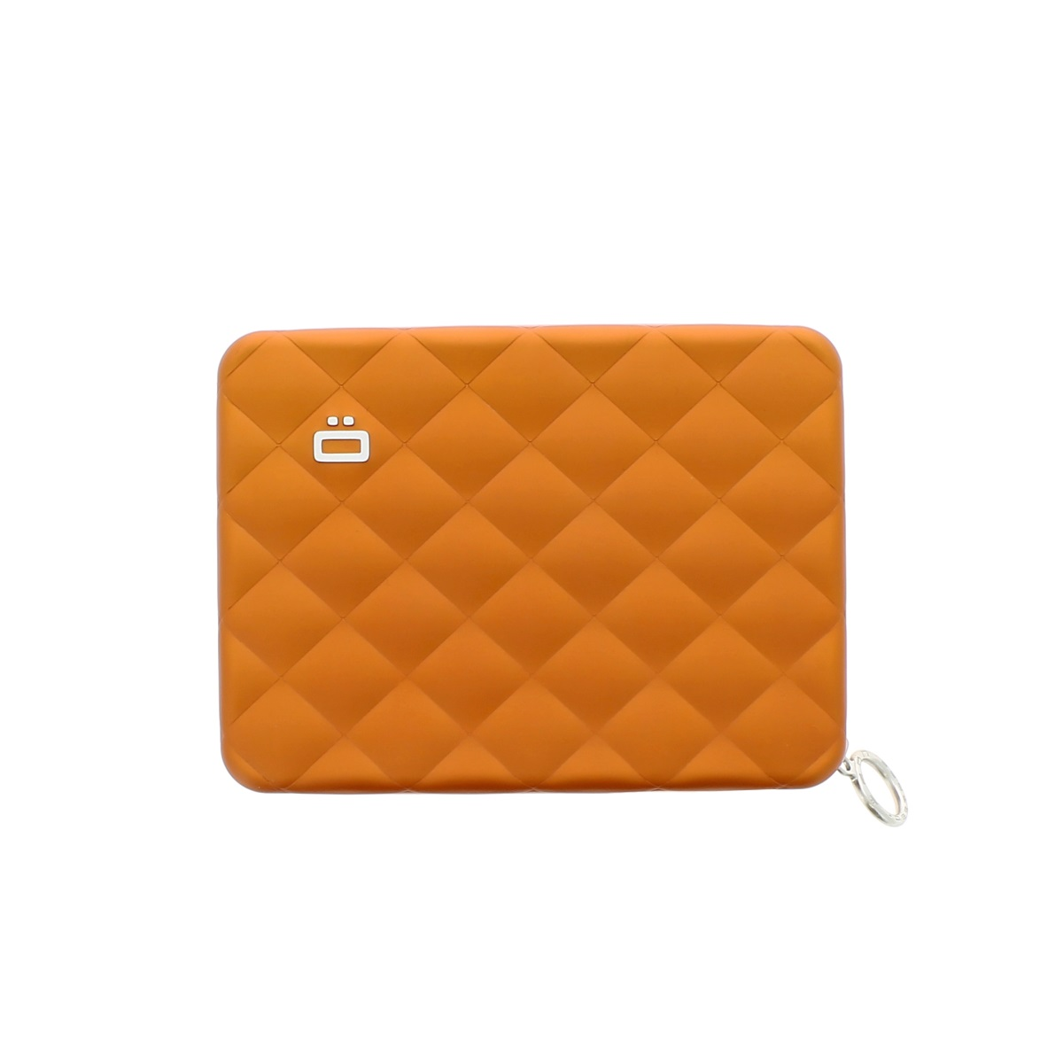 Aluminum Wallet Quilted Passport - Orange