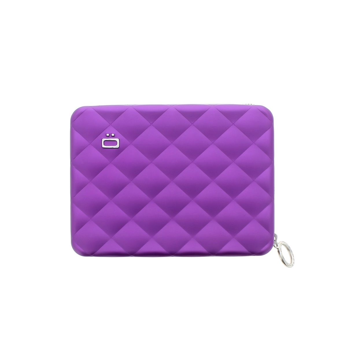 Aluminum Wallet Quilted Passport - Purple