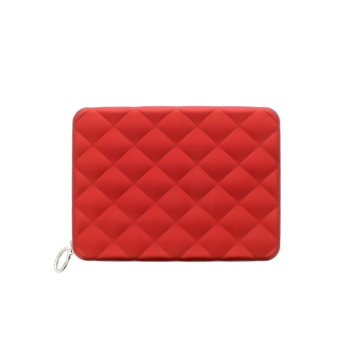 OGON Aluminum Wallet Quilted Passport - Red