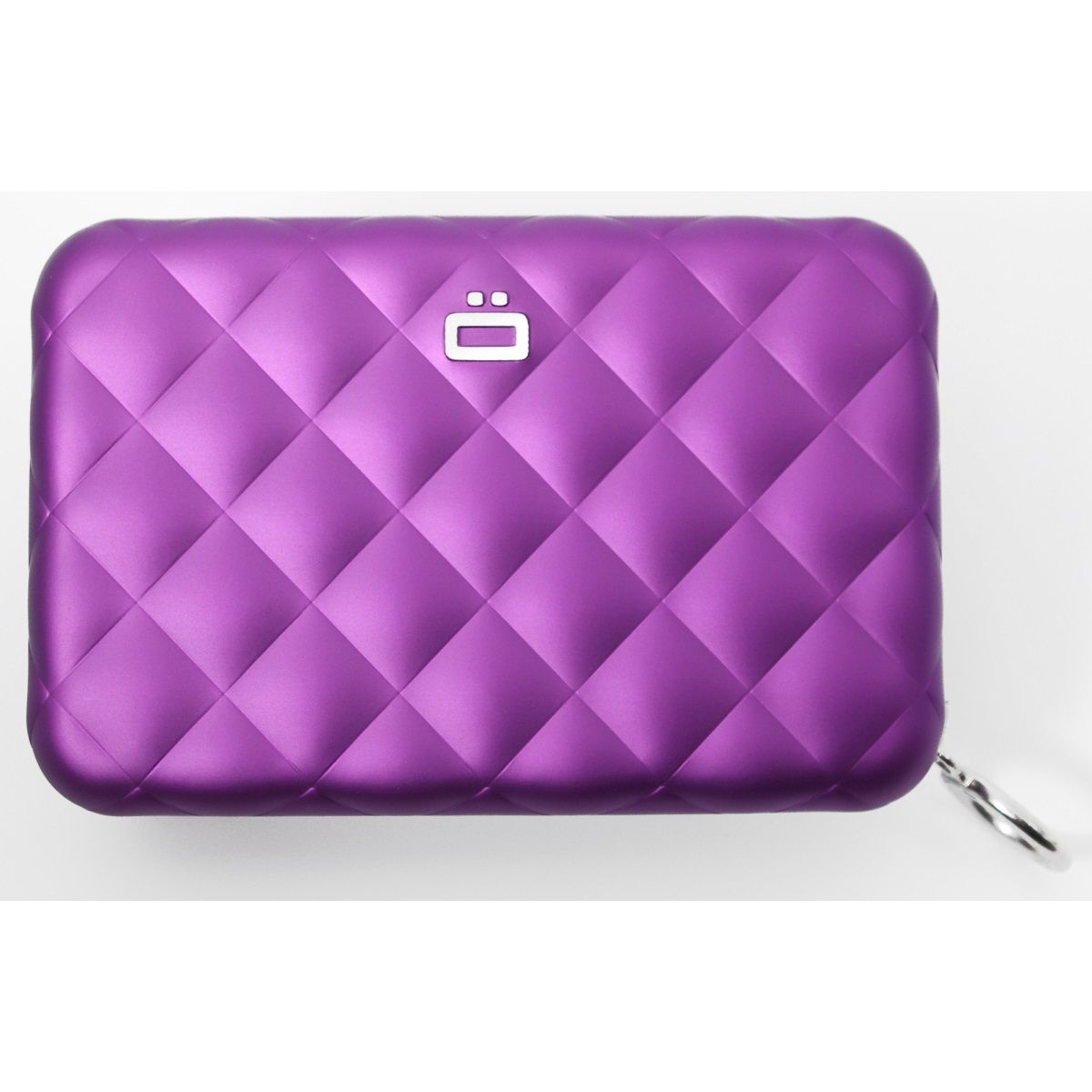 OGON Aluminum Wallet Quilted Zipper - Purple