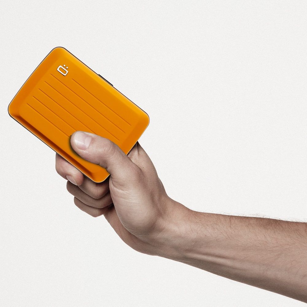 OGON Aluminum Wallet Water Resistant V2.0 - Orange