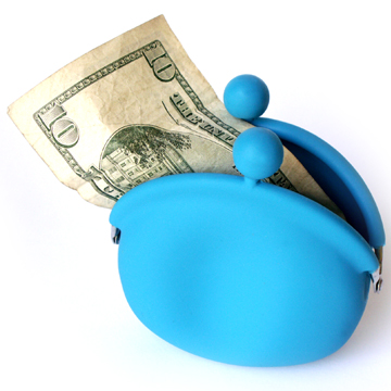 POCHI Silicone Coin Wallet - Blue