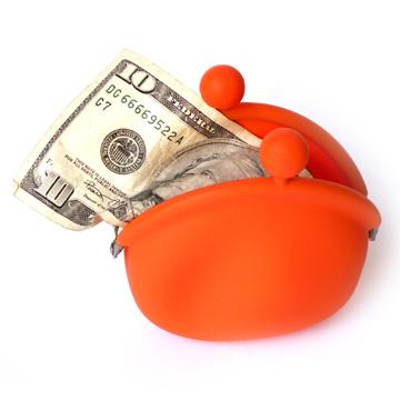 POCHI Silicone Coin Wallet - Orange
