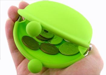 POCHI ארנק סיליקון למטבעות - ירוק