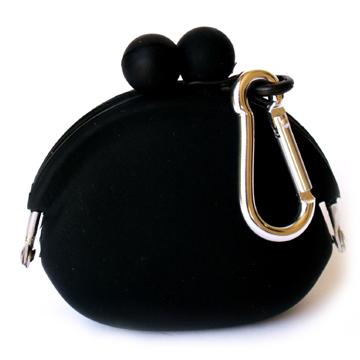 POCHI ארנק סיליקון קטן POCHIBI - שחור