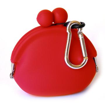 POCHI ארנק סיליקון קטן POCHIBI - אדום