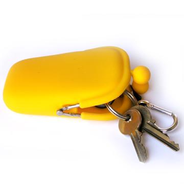 POCHI ארנק סיליקון קטן POCHIBII - צהוב