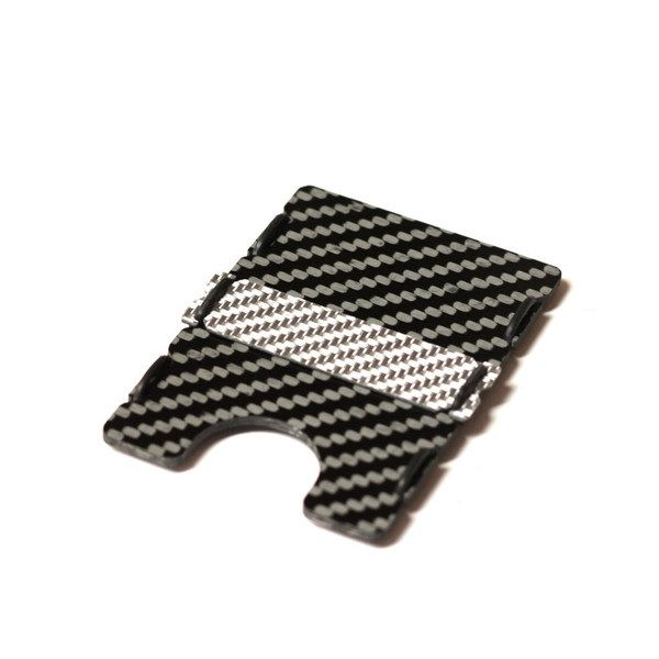slimTECH Carbon Fiber Wallet With Money Clip and Strap - Carbon Gloss