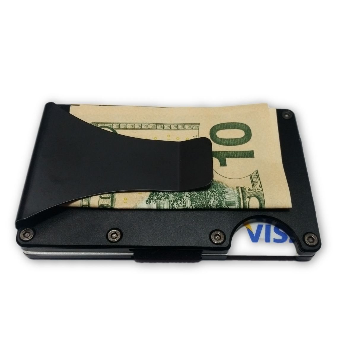 solo Minimalist Aluminium Wallet with Money Clip - Black