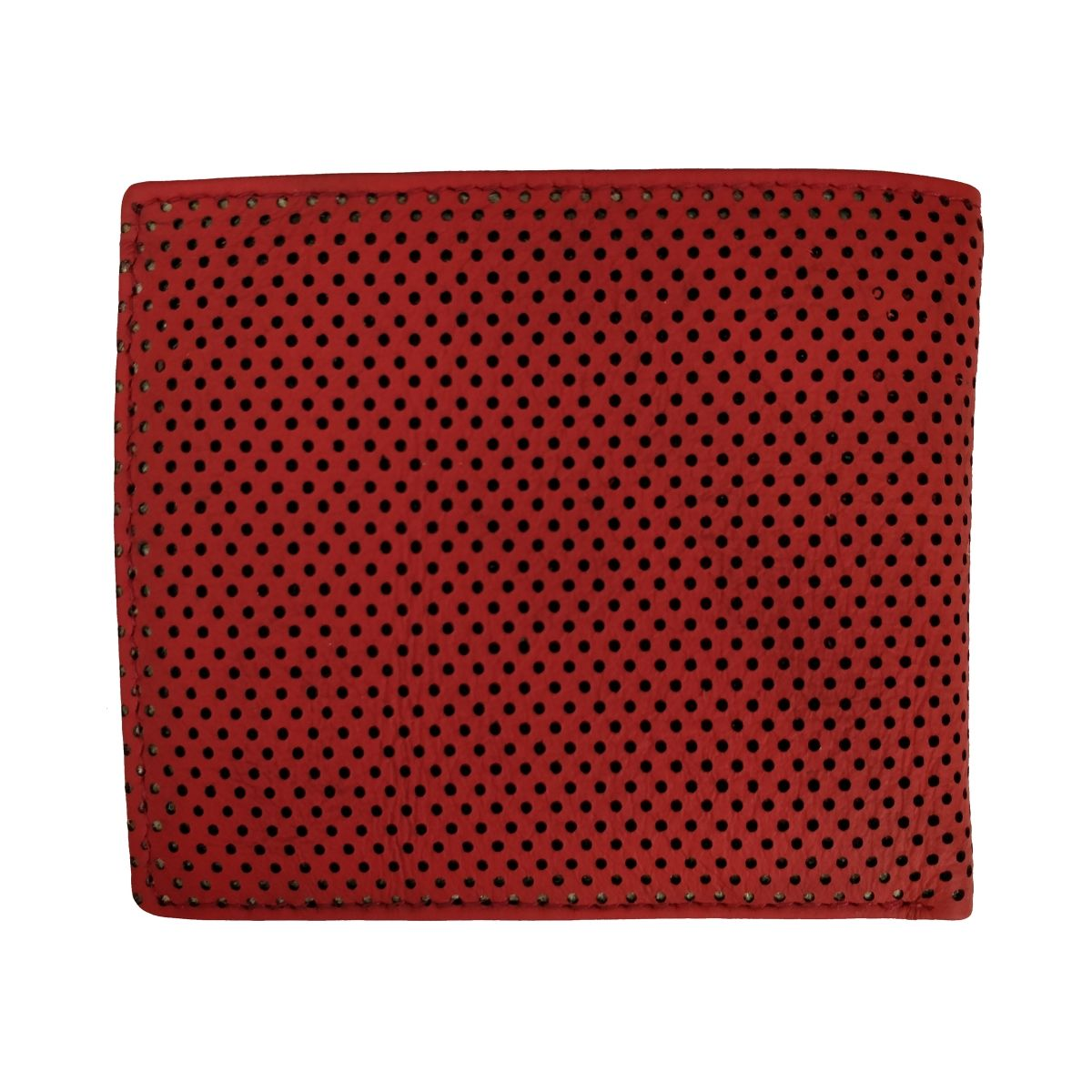 solo ארנק עור עם תא למטבעות  - אדום\לבן