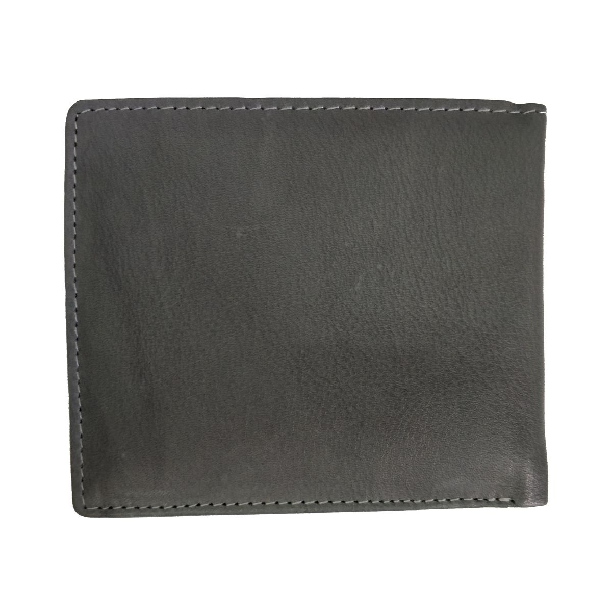 solo Leather Wallet With 2 Strips and Coin Pouch - Grey