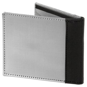 Stewart/Stand ארנק נרוסטה דגם Bill Fold - כסוף\שחור