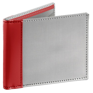 Stainless Steel Wallet - Silver/Orange
