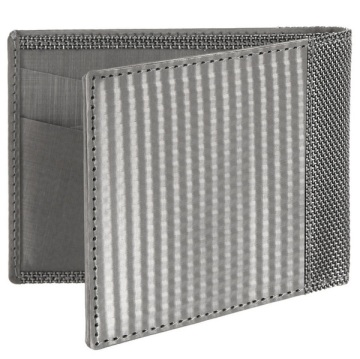 Stewart/Stand Stainless Steel Wallet - Silver Checkered
