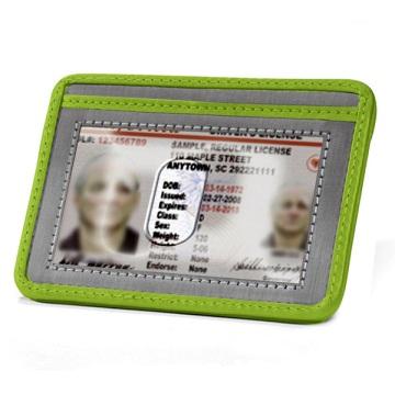 Stewart/Stand Stainless Steel Minimal Wallet - Silver/Green