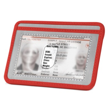 Stewart/Stand Stainless Steel Minimal Wallet - Silver/Red