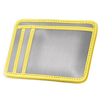 Stainless Steel Minimal Wallet - Silver/Yellow
