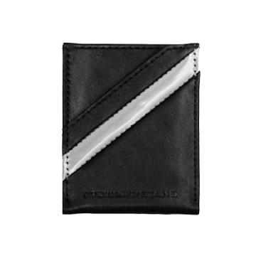 Stewart/Stand Money Clip Wallet - Black / Silver