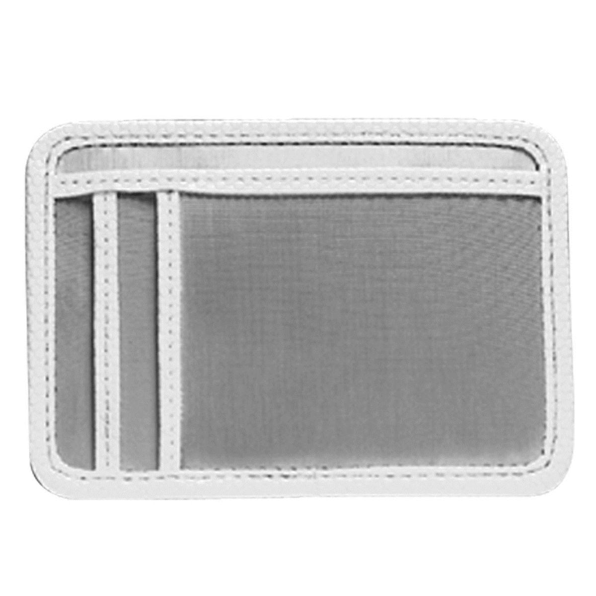 Stewart/Stand Stainless Steel Minimal Wallet - Silver/White