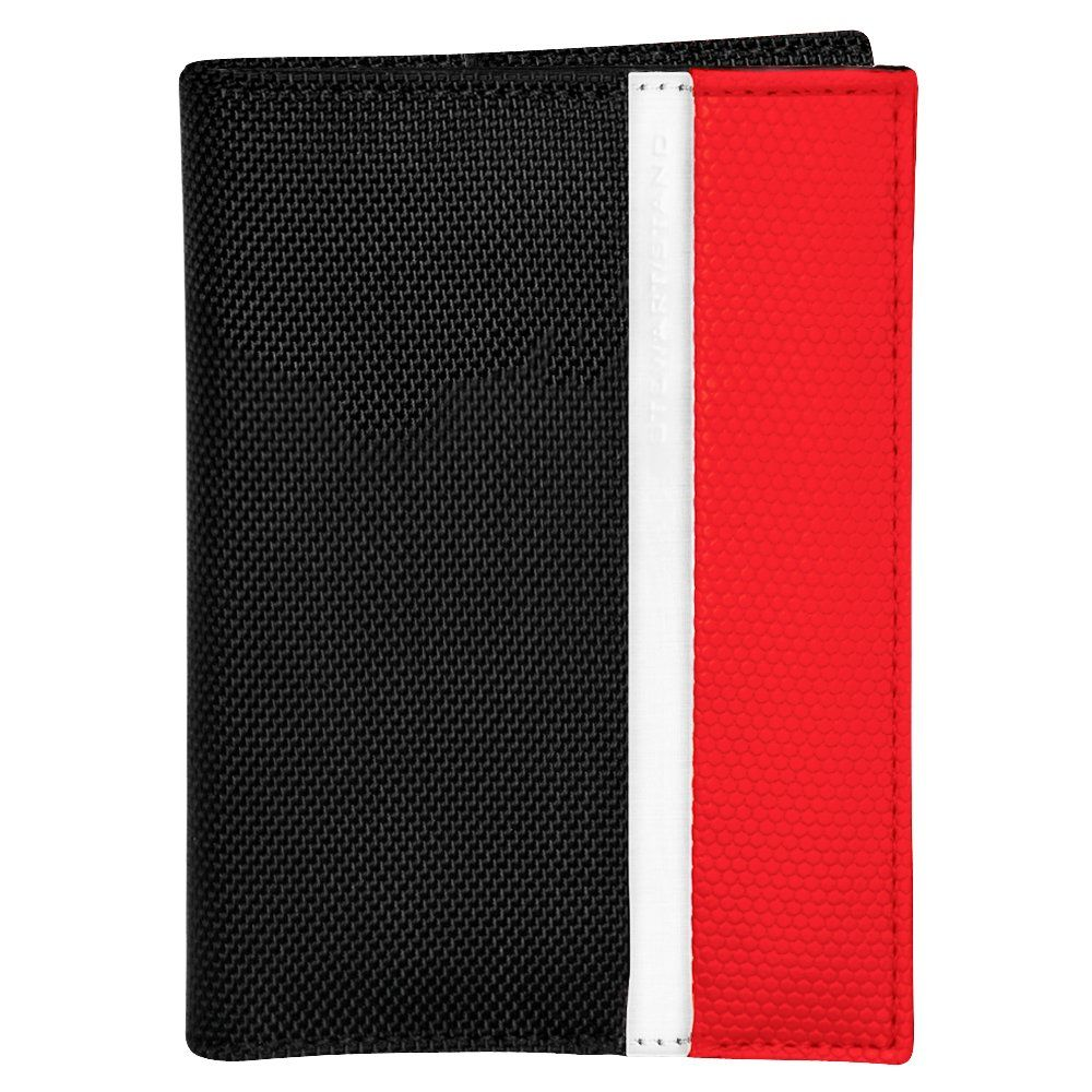 Stewart/Stand ארנק נרוסטה דגם Bill Fold - שחור \ אדום