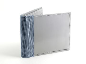 Stainless Steel Wallet  - Blue