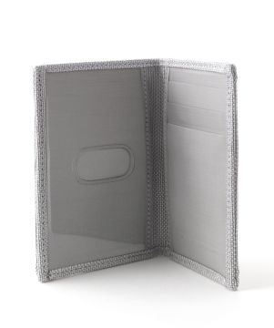 Stewart/Stand Stainless Steel Driving Wallet with Window - Silver Texture