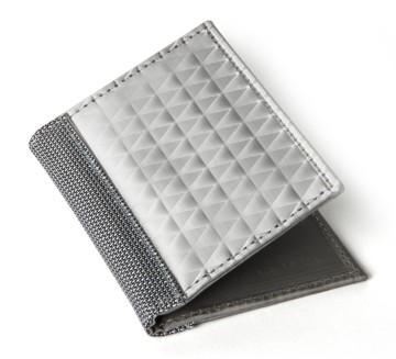 Stewart/Stand ארנק נרוסטה  דגם Driving Wallet Window - כסוף