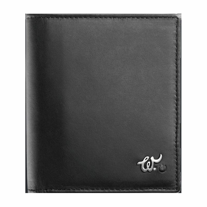 Smart Leather Wallet with a Mobile App - Black